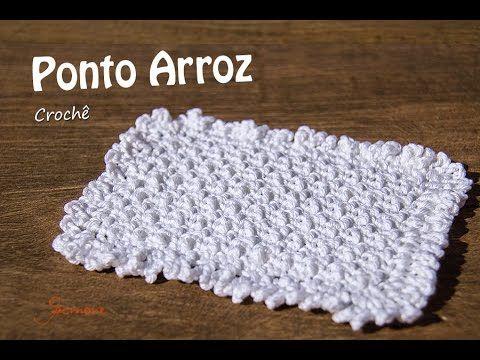 Ponto de Crochê | Ponto Arroz | Professora Simone - YouTube