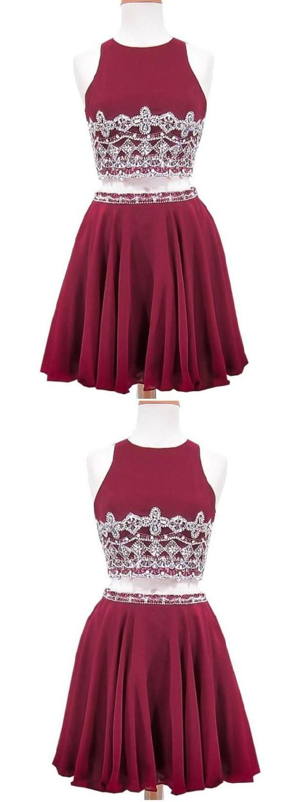 Outlet fine burgundy short two piece aline in homecoming