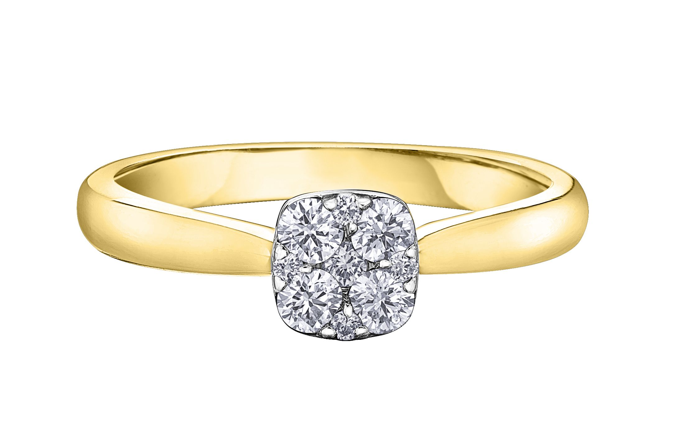 bague or jaune diamant solde