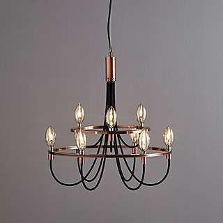 Fredirica 9 Light Copper Chandelier Dunelm