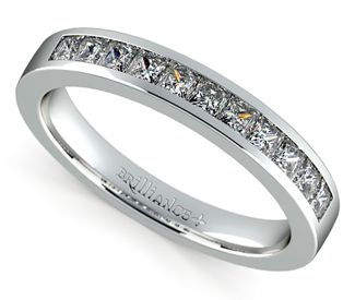 His Her Wedding Ring Contest Diamond bands Princess and Diamond