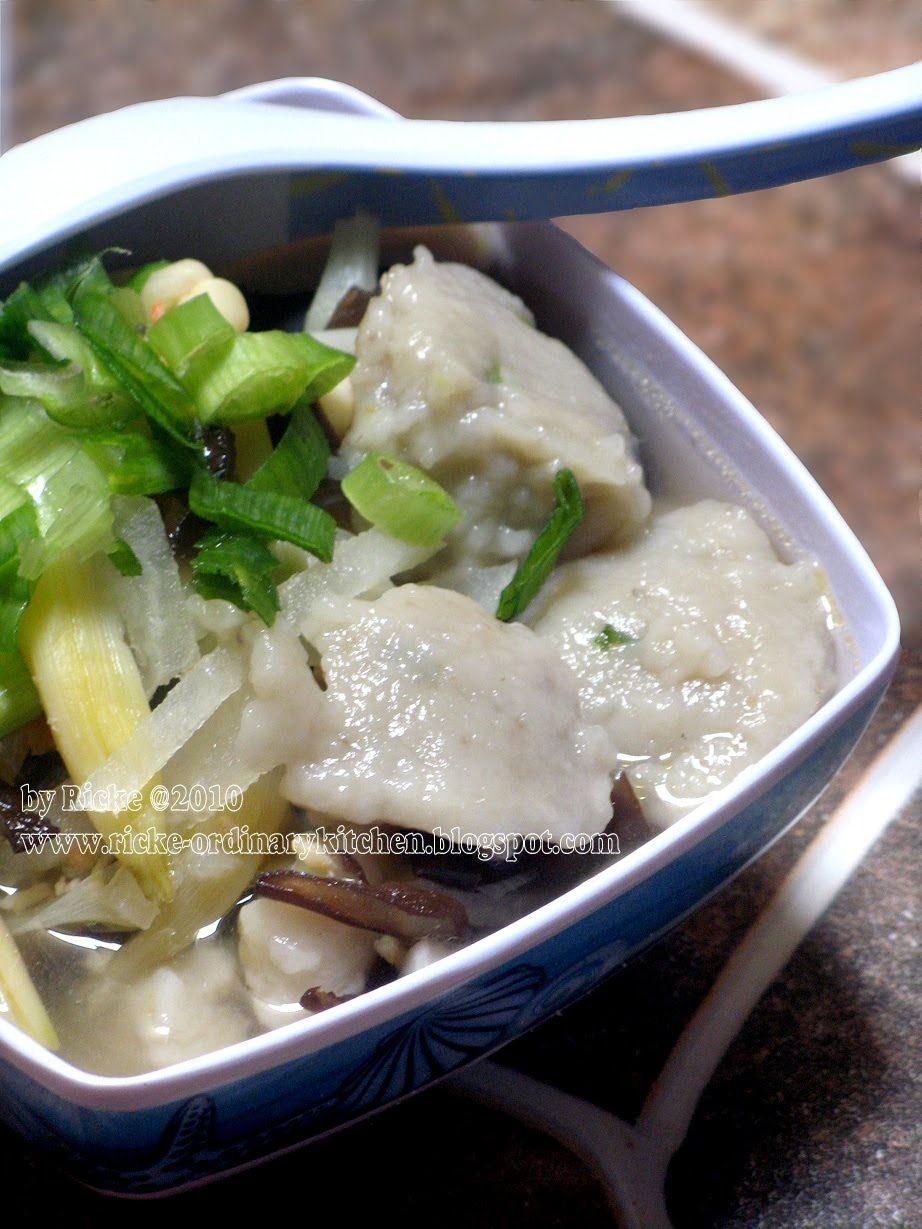 Just My Ordinary Kitchen Tekwan Indonesian Palembang Fish Ball Soup Masakan Resep Makanan Makanan