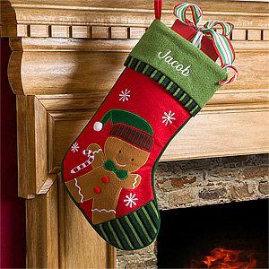 Gingerbread Boy or Girl Christmas Stocking