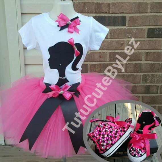 Girl Silhouette Tutu Set with or Without Converse | Juego de barbie ...