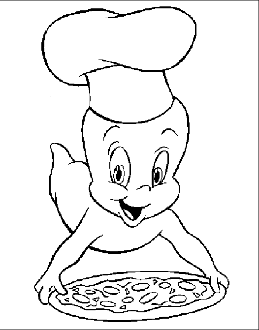 casper cooking pizza coloring pages casper coloring pages kidsdrawing free coloring pages online