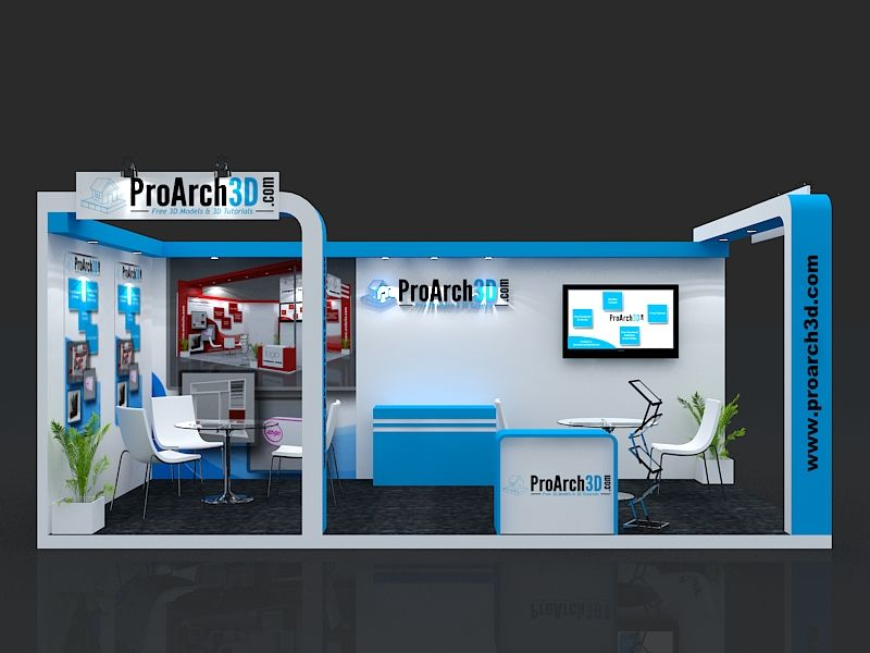 D Exhibition Stall Design Free Download : Exhibition stall d model mtr side open