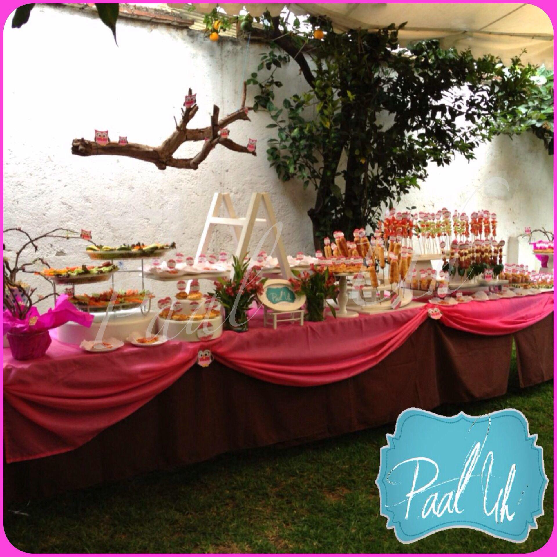 Paal uh mesas de postres snack 39 s bocadillos baby for Casa jardin buffet