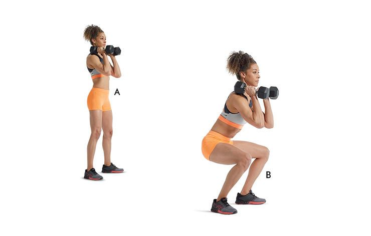Dumbbell front squat