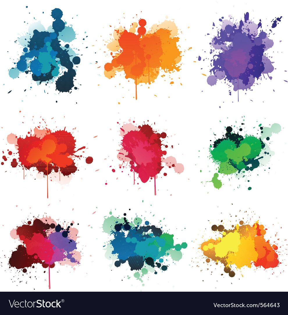 Paint Splatter Vector Image On Paint Drop Watercolor Splash