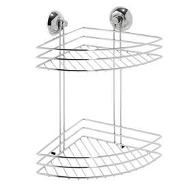 Lovely 2 Tier Suction Corner Shower Caddy   Chrome