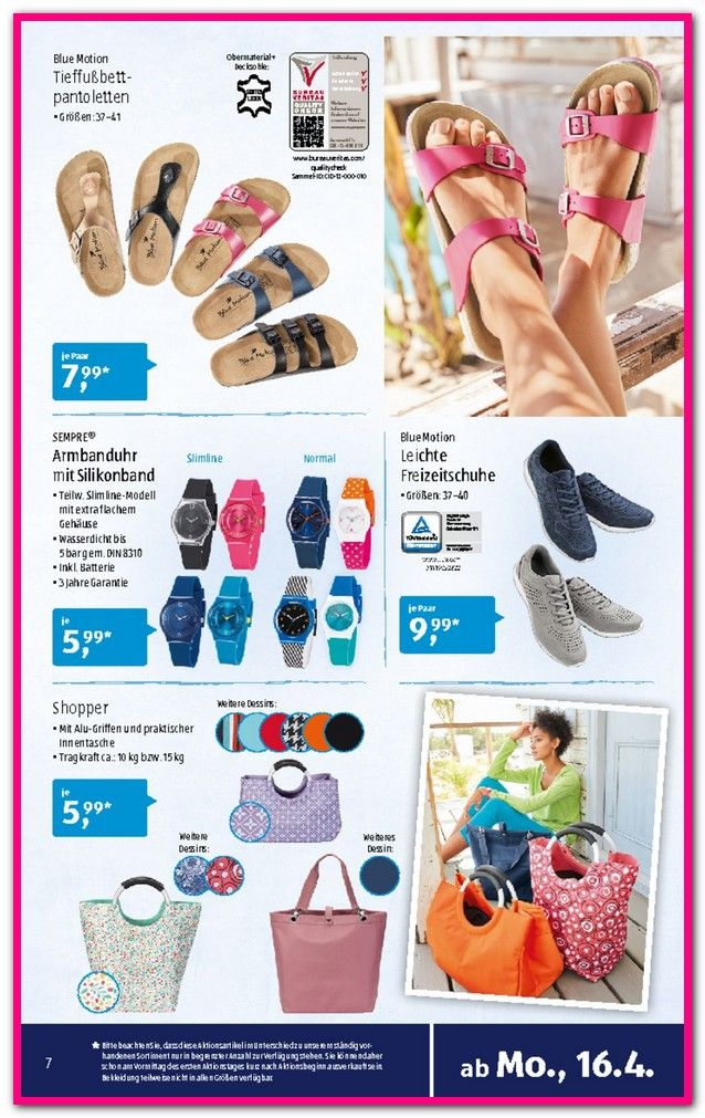Aldi Süd Pantoletten Produktbeschreibung. walkx® comfort