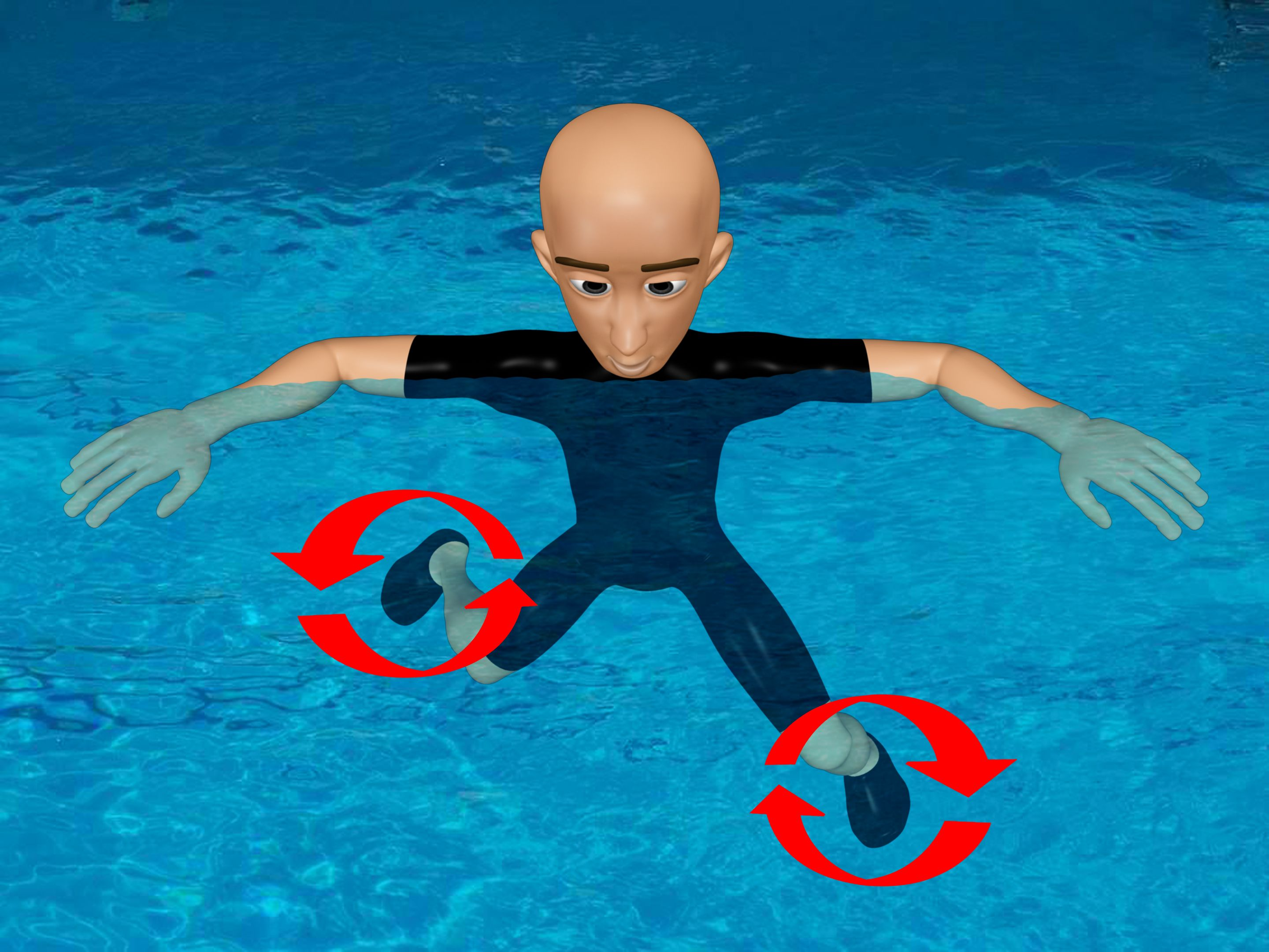 How To Tread Water Swimming Workout Treading Water Water Exercises