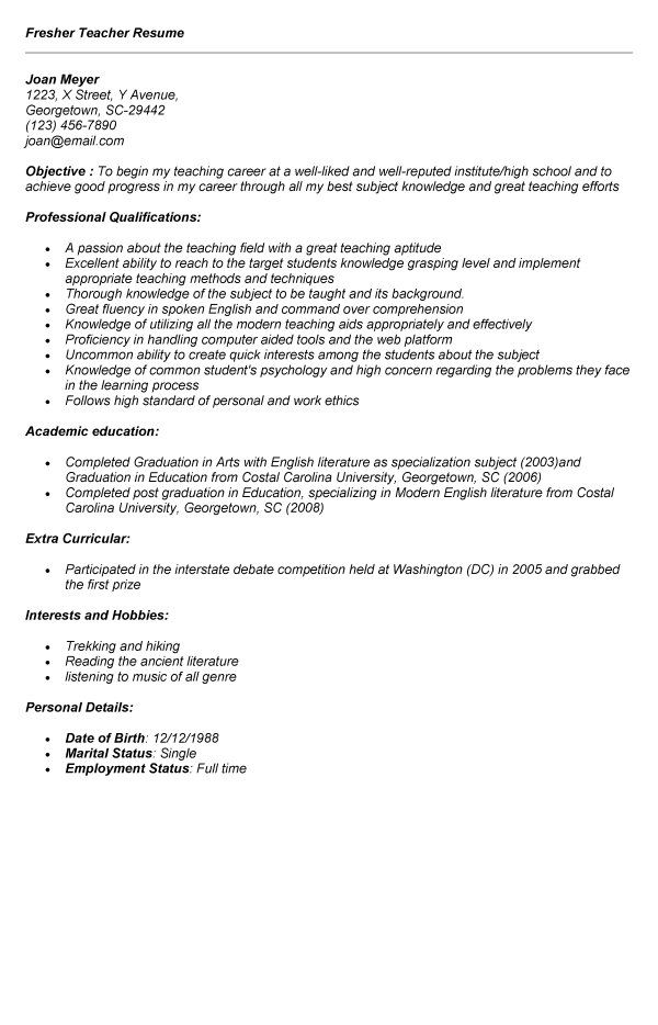 Music Education Cover Letter An Internationally Recognised University Located In Grahamstown South Af Teacher Resume Teaching Resume Examples Teaching Resume