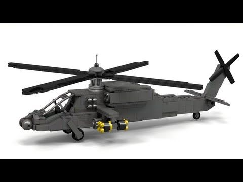 Lego Ah 64 Apache Instructions Youtube Military Lego Designs