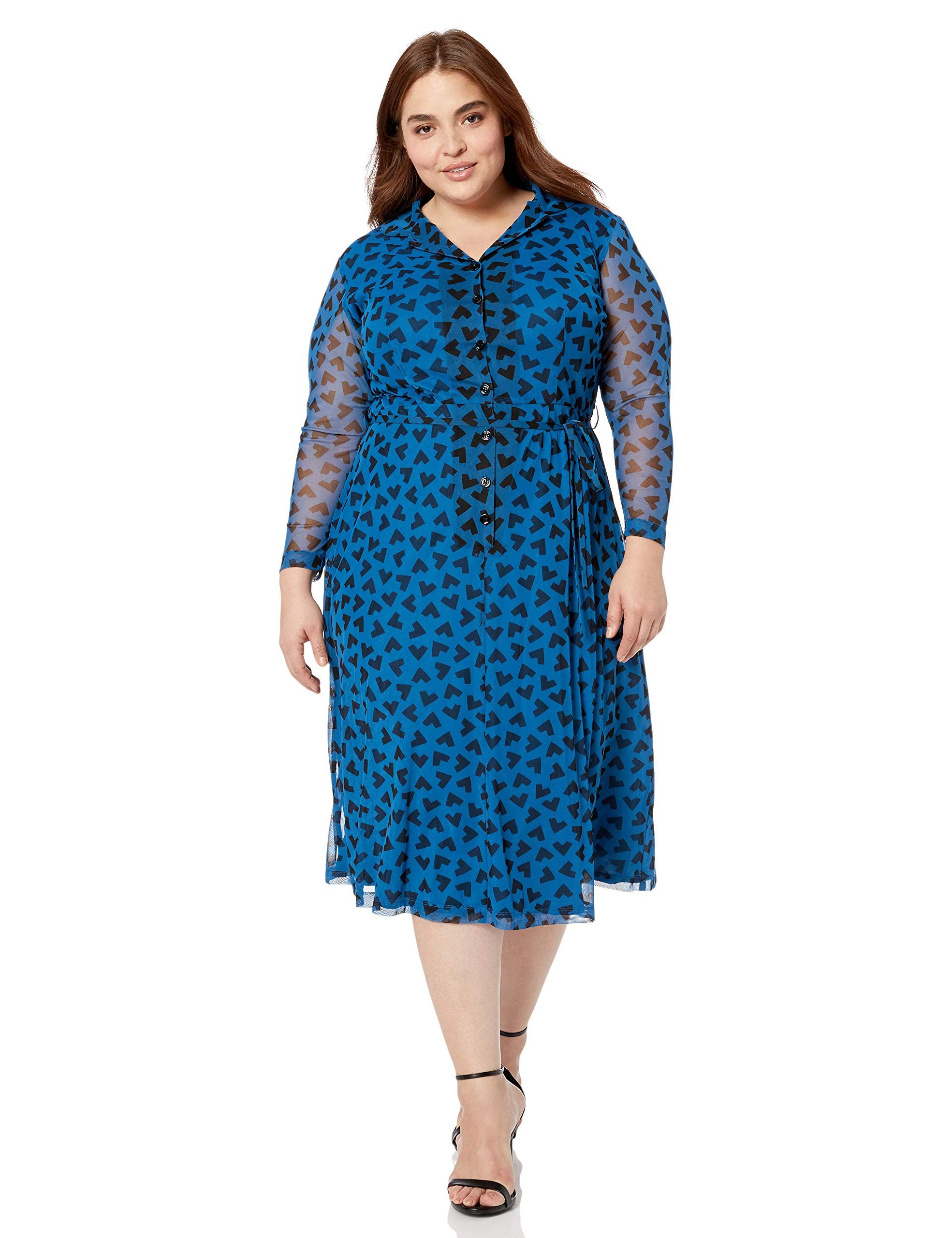 Anne Klein Women S Plus Long Sleeve Button Down Dress Sponsored Dresses Button Down Dress Plus Size Dresses [ 2560 x 1969 Pixel ]
