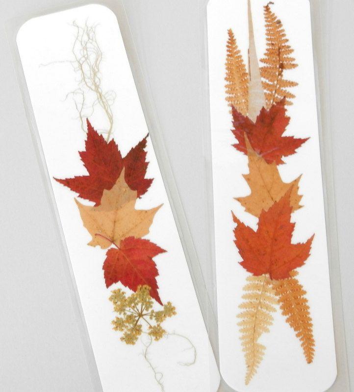pressed flower bookmarks - Google Search Etiquetar regalos