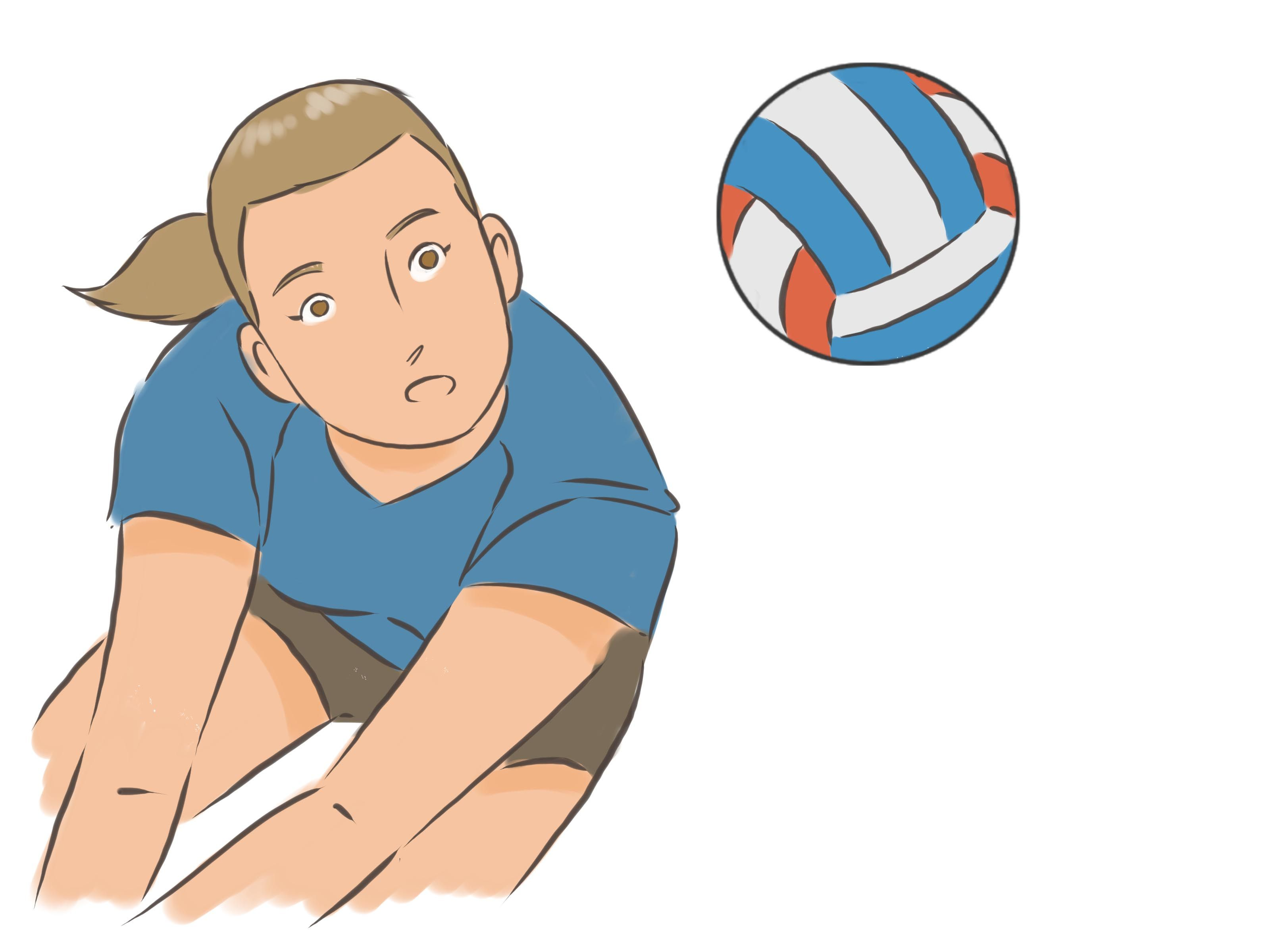 Bump A Volleyball Volleyball Bump Character