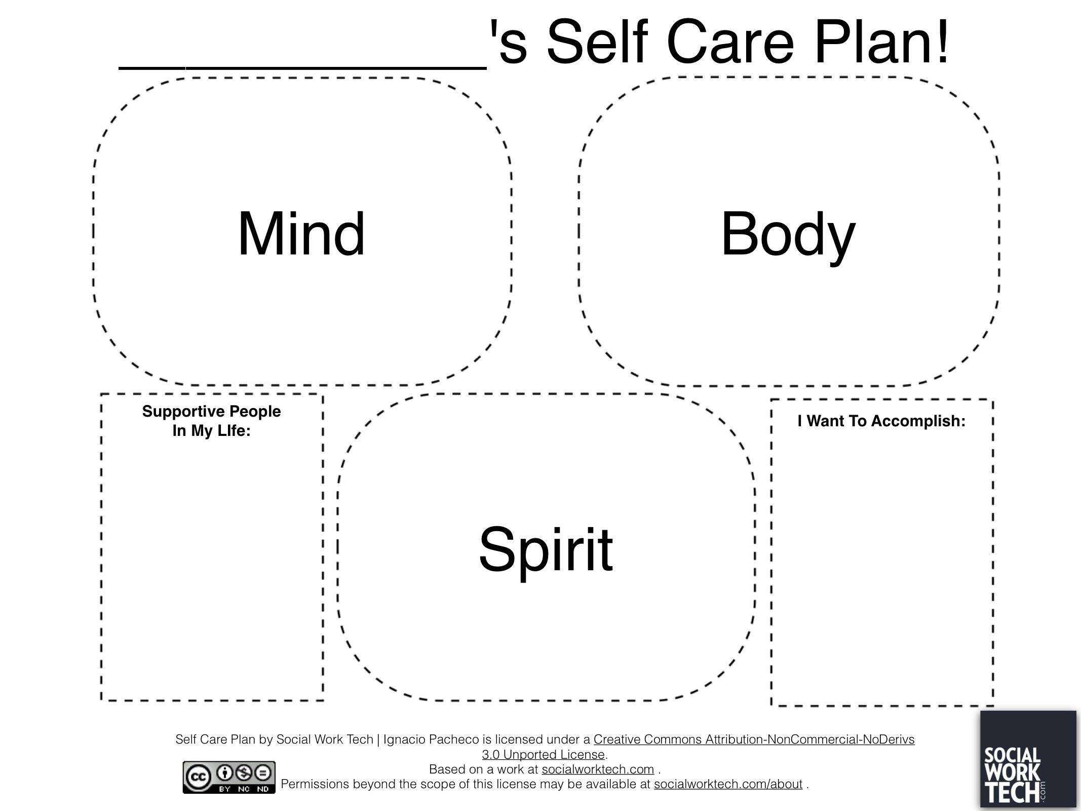 Social Work Tech  Making A SelfCare Plan On Ipad Super Simple