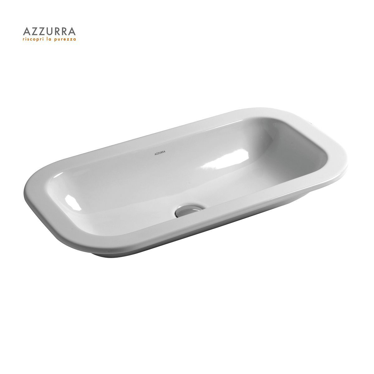 Azzurra Glaze 69cm Recessed Basin
