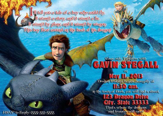 How To Train Your Dragon Boy Customizable Birthday Invitation