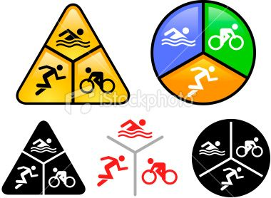 swim bike and run icon set triathlon rh pinterest com triathlon logo clipart triathlon clip art free