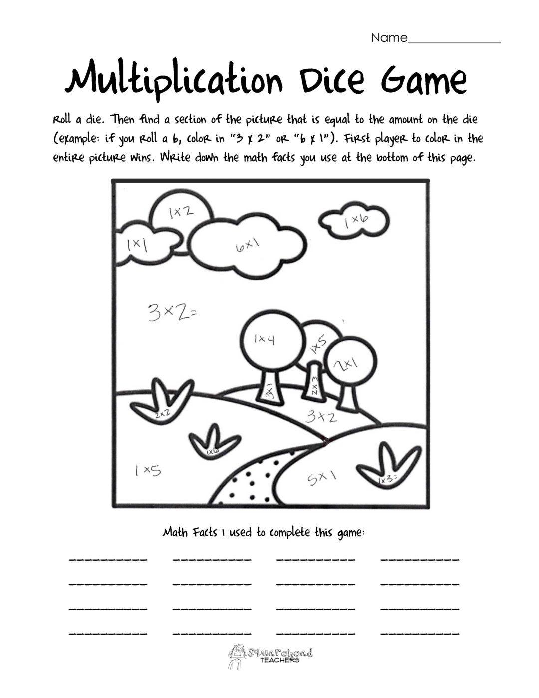 Multiplication Worksheets Atividades Pedagogicas Matematica Atividades [ 1398 x 1080 Pixel ]