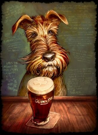 Irish Terrier By Sean O Daniels Not A Doxie But Still Adorable Looks Like My Parents Dog Beer Art Beer Illustration Beer Poster