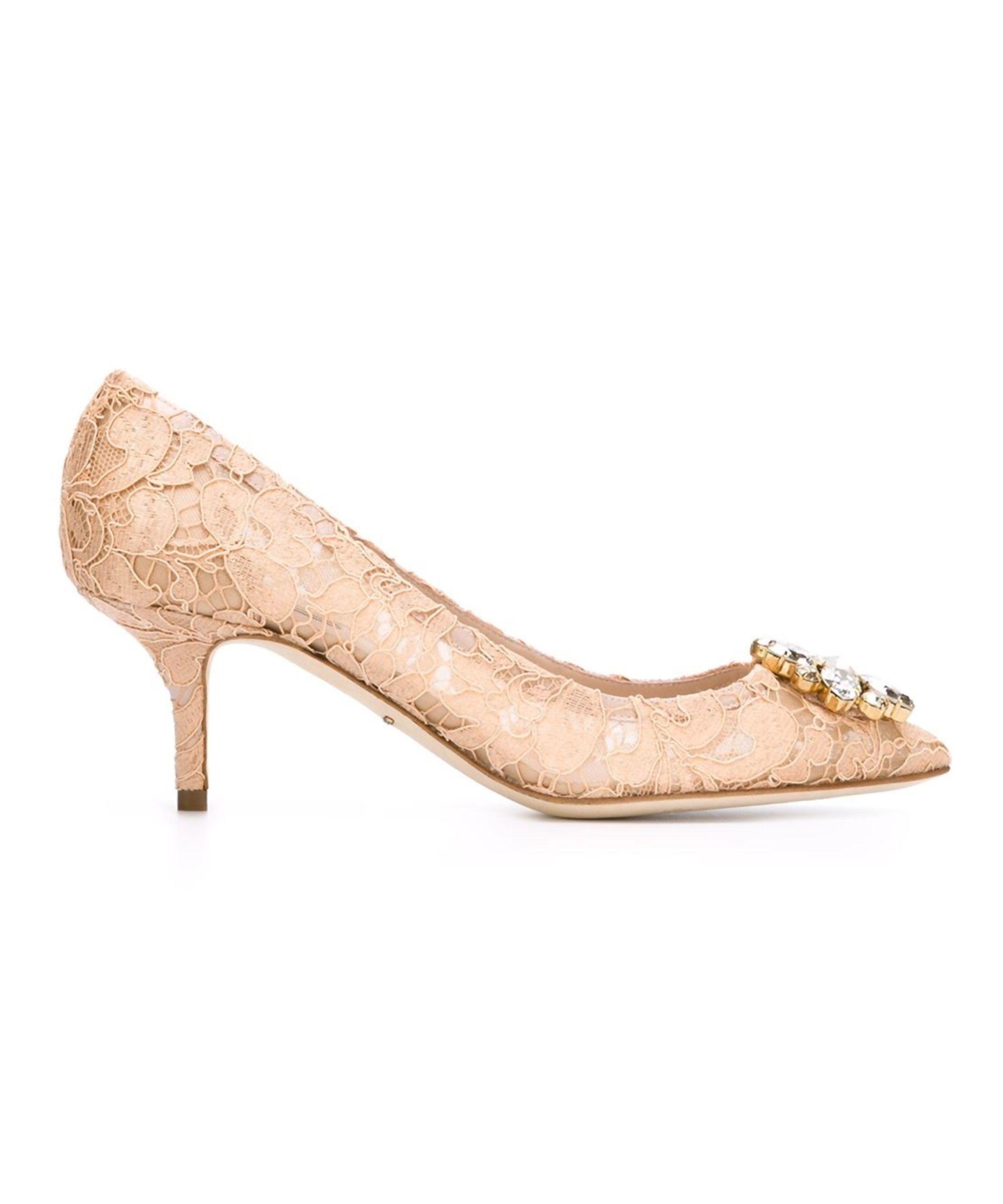 Dolce E Gabbana Dolce E Gabbana Women S Beige Silk Pumps Shoes Pumps High Heels Dolce E Gabbana Heels Kitten Heels Dolce And Gabbana