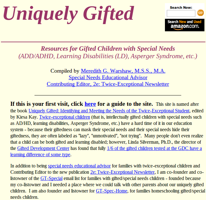 Twice exceptional adhd and giftedness essay