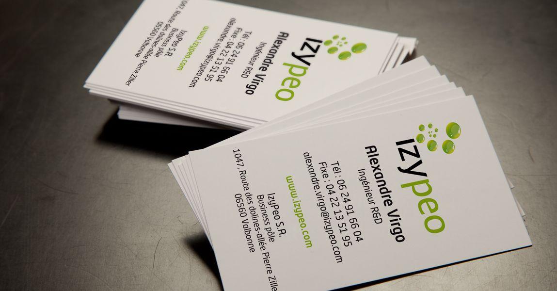 Izypeo Fait Appel A Nous Pour Limpression Des Cartes De Visite Ses Commerciaux