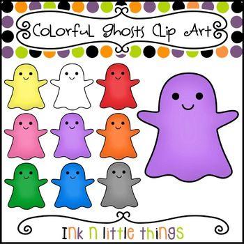 Halloween Clip Art - Colorful Ghost Clipart   Halloween ...