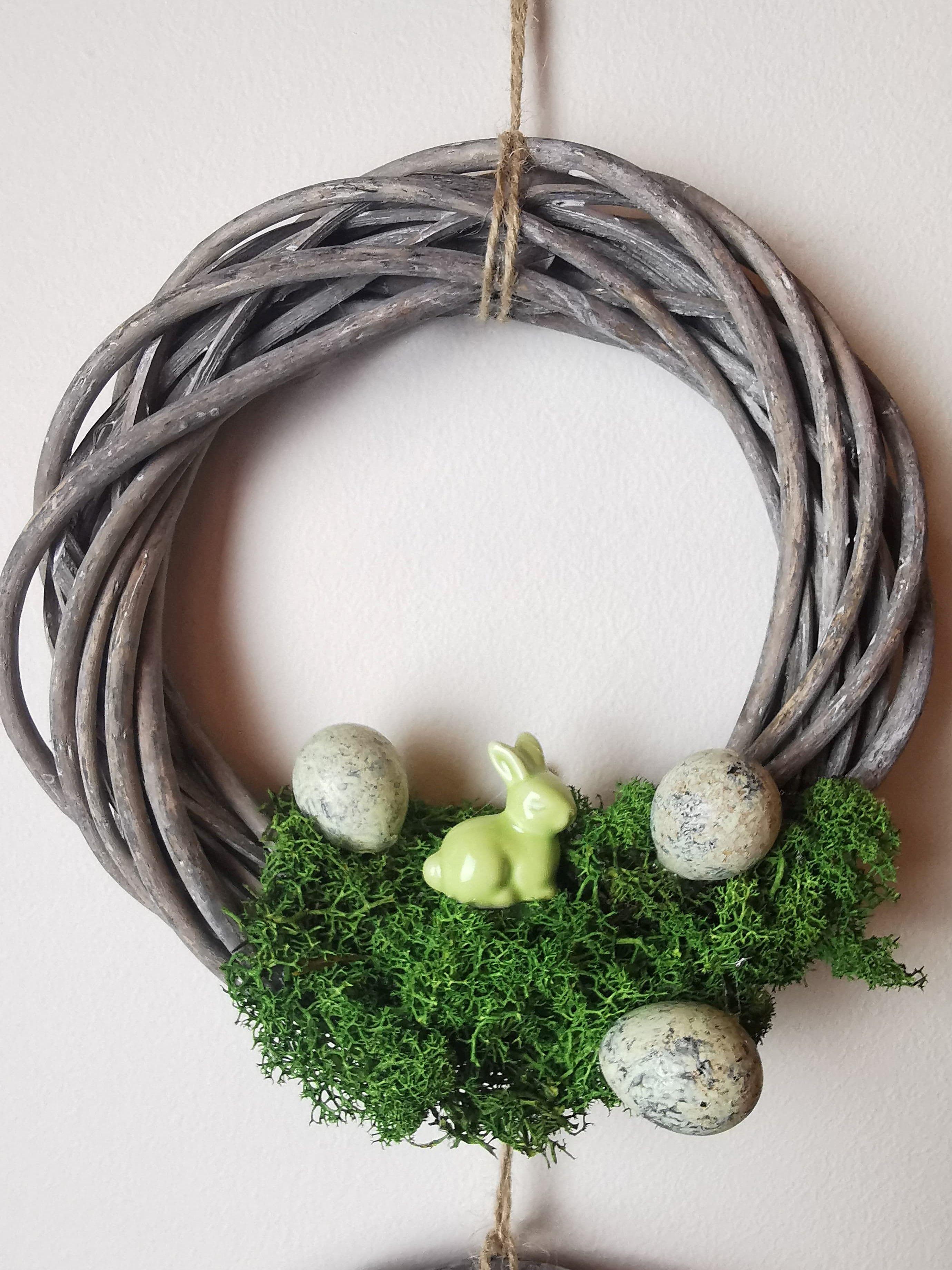 Wielkanocny Stroik Wianek Swiateczny Zajaczek 8970935150 Oficjalne Archiwum Allegro Happy Flowers Flowers