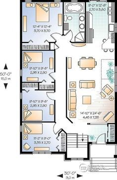house plan Dynasty 3 No. 3314 Bungalow floor plans