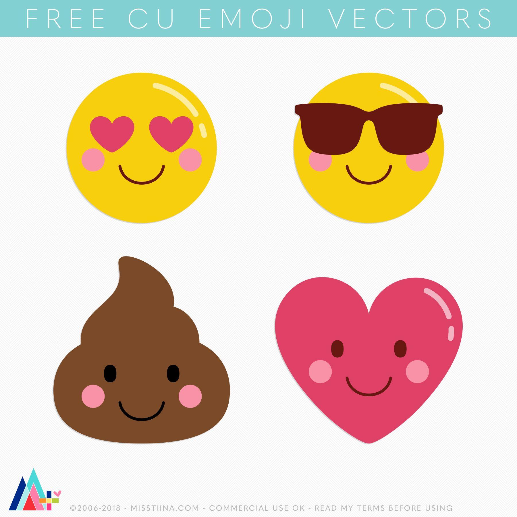 Free Emoji Vectors | Project Life Freebies | Emoji faces