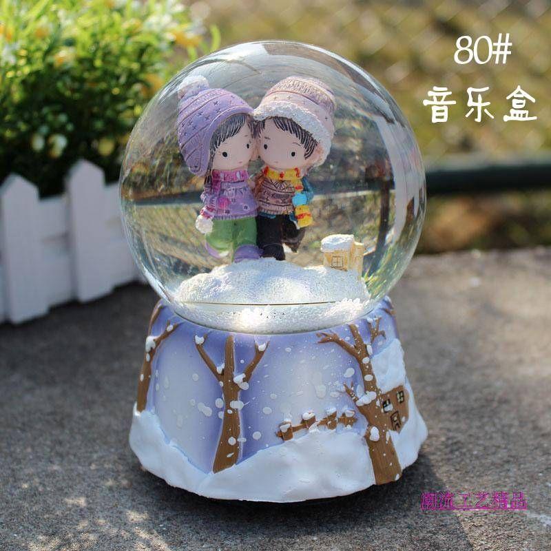 Aliexpress Com Buy Home Utility Gift Birthday Gift: Lovers Large Rotating Crystal Ball Music Box Birthday Gift