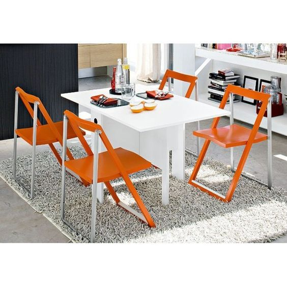 CALLIGARIS | The Space Saving Spazio Dining Table Can Seat Four People  Comfortably When Fully Opened