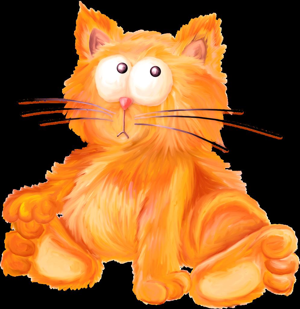 Рисунки рыжих котов смешные, слава богу все