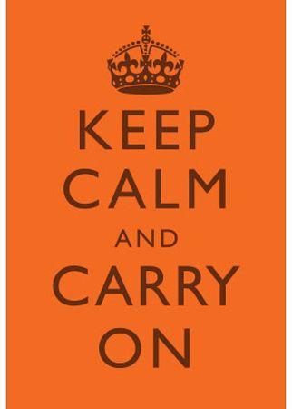 Keep Calm - Orange