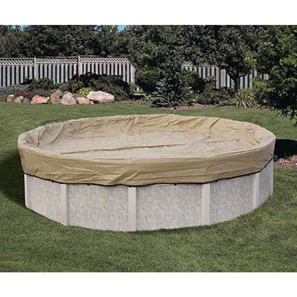 Hinspergers 34 ft. x 34 ft. Round Tan Above Ground Armor ...