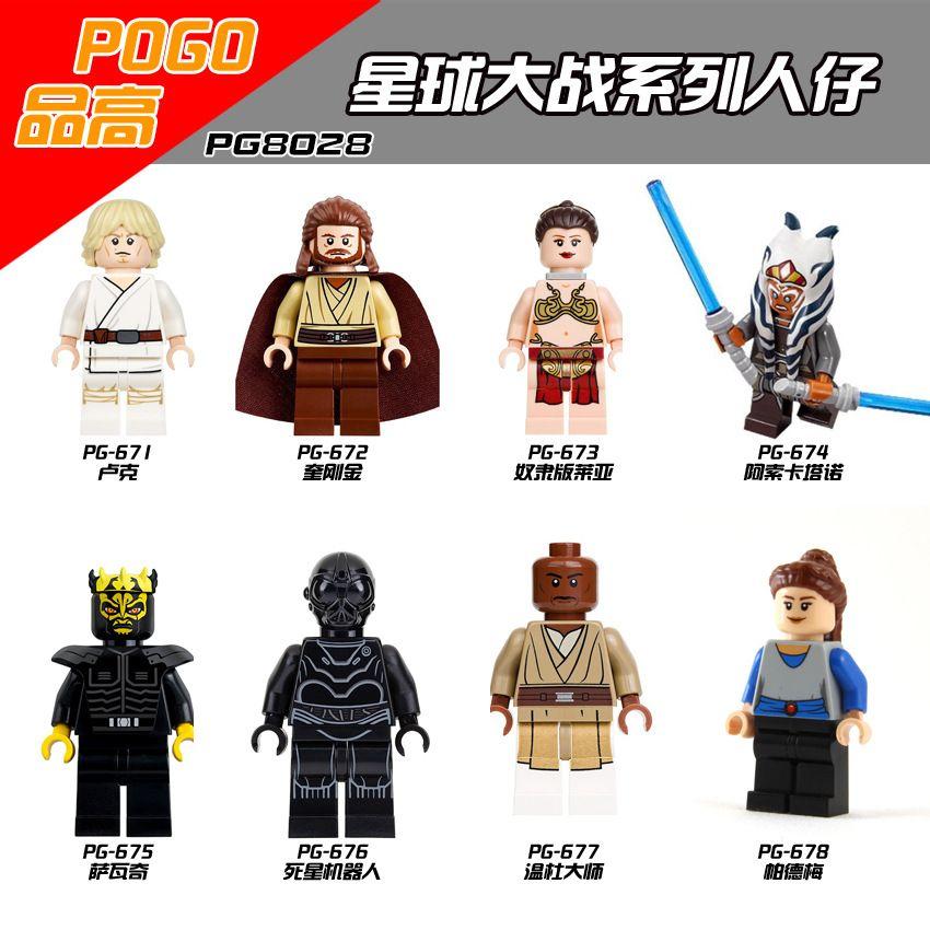 PG8028 Rogue Un Una Star Wars Storia Omini BB8 Jedi cavaliere Boba Fett Forza Risveglia Blocchi modello Cloni e costruzione giocattoli