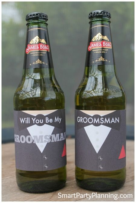 Wedding beer labels for the groomsman #Wedding #BeerLabels #Engagement #Printables