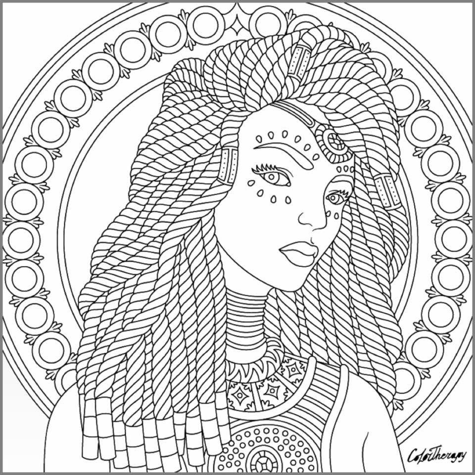 Dreadlocks hippie chick coloring page | Hippie Art + Peace Signs ...
