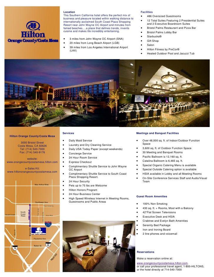 Hotel Fact Sheet Format Mesa Hotel Fact Sheet | simi | Pinterest