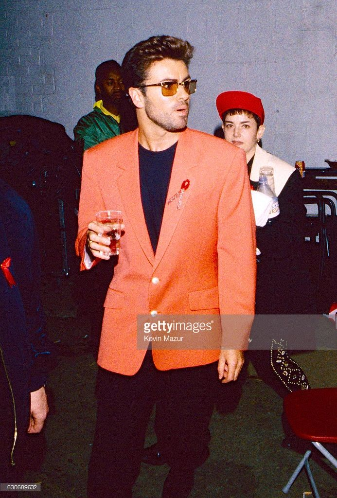 George Michael backstage during The Concert for Life - The Freddie Mercury Tribute on April 20, 1992 at Wembley Stadium in London, England, United Kingdom.