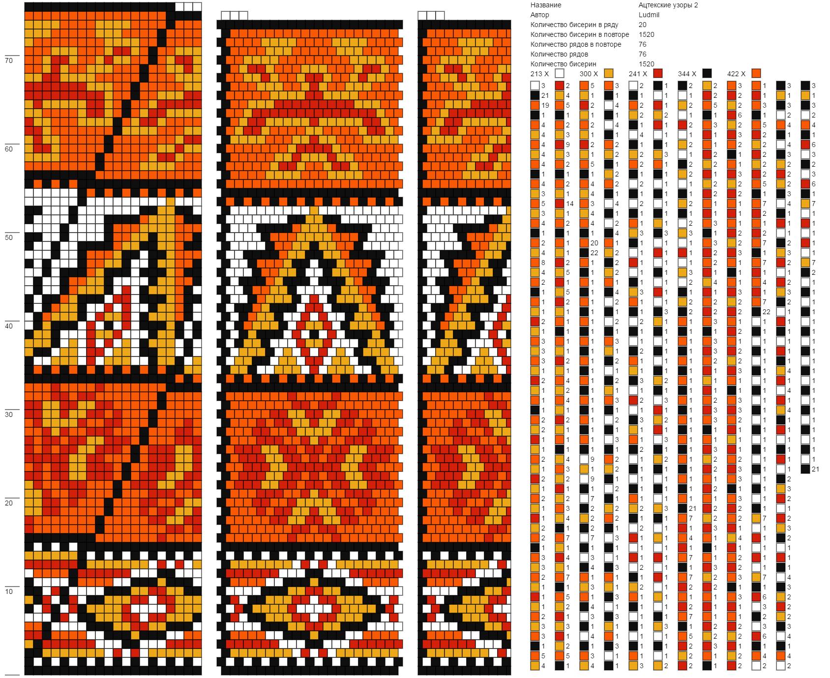 Ацтекские узоры 2