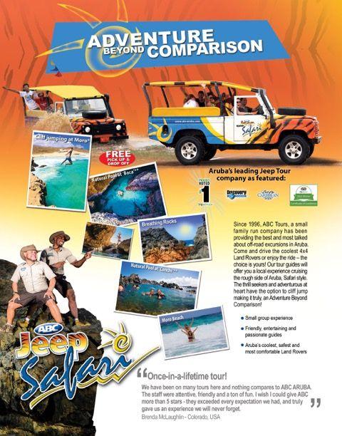 Natural Pool Tour Bridge Aruba Safari Jeep Snorkeling Diving