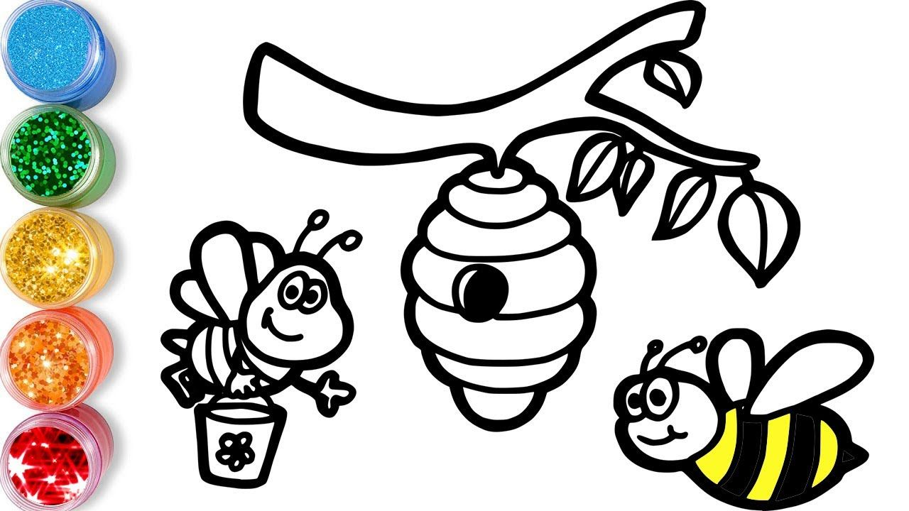 Let S Start Drawing And Coloring For Kids Bees Scene Kids Drawing Lessons Kids Jolly Art Yo In 2020 Drawing For Kids Drawing Lessons For Kids Coloring For Kids