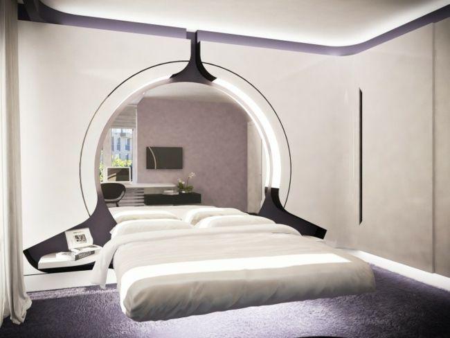 lila Schlafzimmer einrichten stilvolles Design Product Design