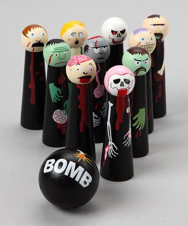 ZOMBIE BOWLING!!!    Take a look at this Bowling Zombies Game by University Games on #zulily today!