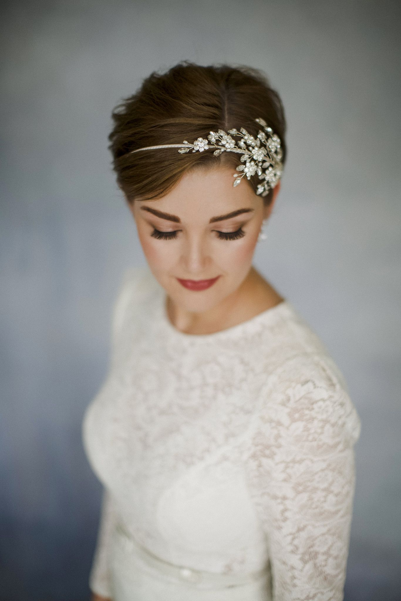 large statement swarovski crystal wedding headband - etta